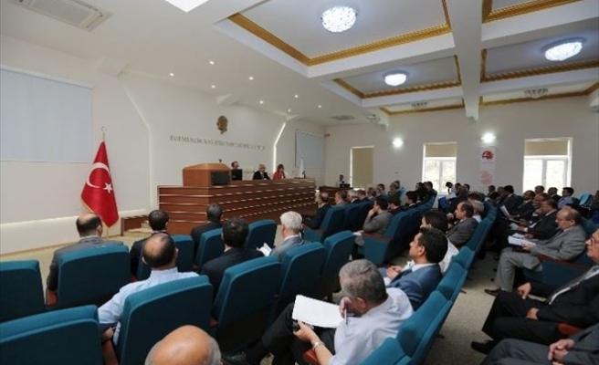 İdare Şube Başkanları Toplantısı Vali Tuna Başkanlığında Yapıldı