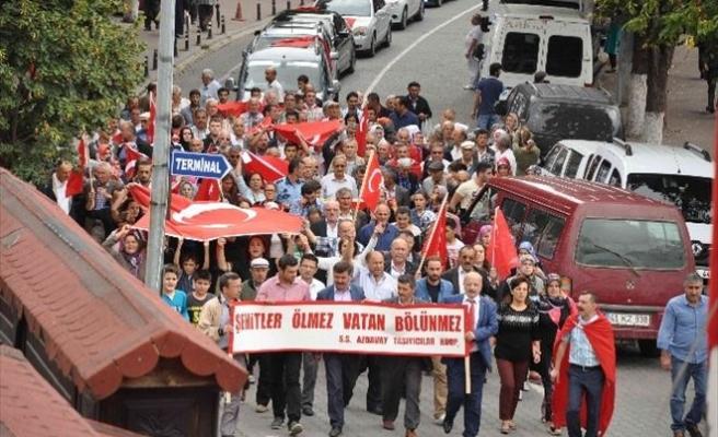Azdavay'da Teröre Lanet Yürüyüşü Düzenlendi