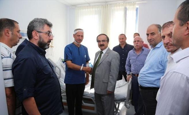 Vali Coş'tan Başkan Dişli'ye Geçmiş Olsun Ziyareti