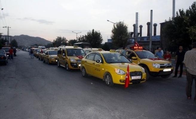 Taksicilerden 'Teröre' Tepki