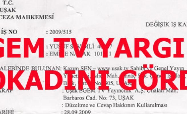 EGEM TV'YE YARGIDAN TEKZİP TOKADI