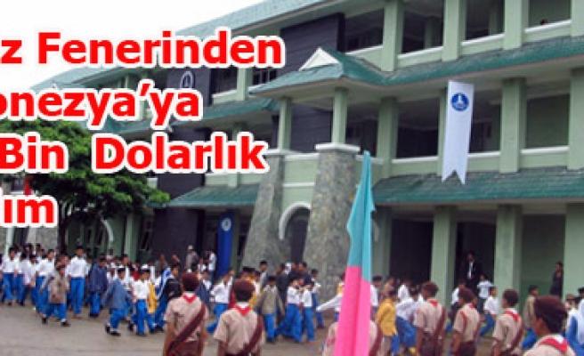 Deniz Feneri Endonezya'ya 100.000 Dolar Yardım Götürdü