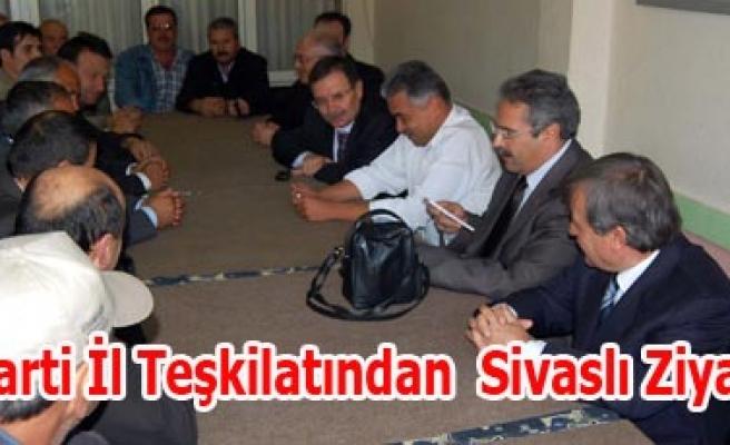 AK Parti İl Teşkilatından  Sivaslı Ziyareti