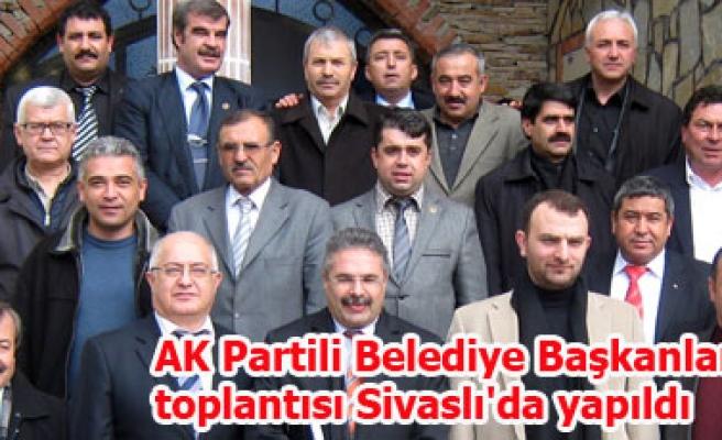 AK Partili Belediye Başkanları toplantısı Sivaslı'da yapıldı