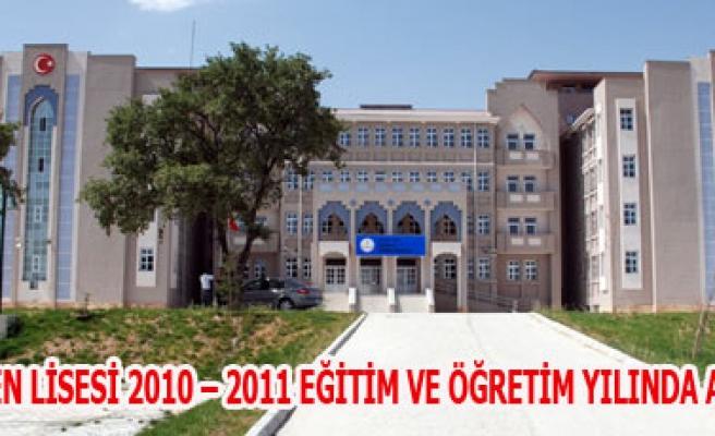 GEDİZ FEN LİSESİ 2010 - 2011 EĞİTİM VE ÖĞRETİM YILINDA FAALİYETE GEÇECEK