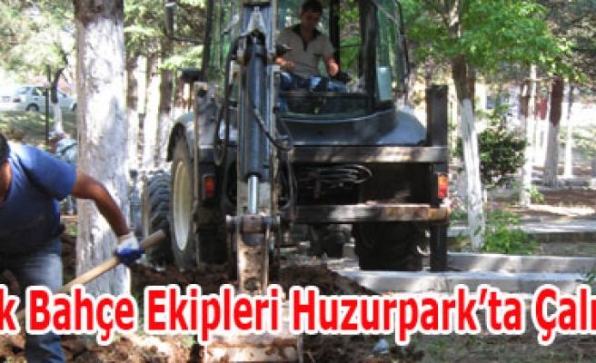 Park Bahçe Ekipleri Huzurpark'ta Çalışıyor