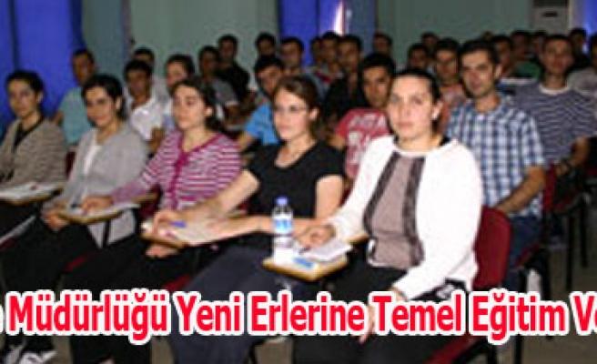 İtfaiye Müdürlüğü Yeni Erlerine Temel Eğitim Veriliyo