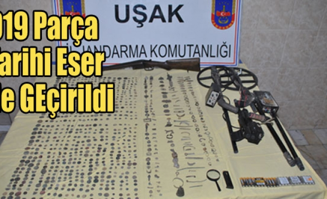 UŞAK'TA 919 PARÇA TARİHİ ESER ELE GEÇİRİRİLDİ