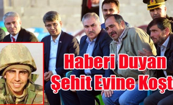 ŞEHİT'İN EVİ BAYRAKLARLA DONATILDI
