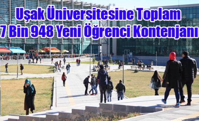 Uşak Üniversitesine Toplam 7 Bin 948 Yeni Öğrenci Kontenjanı