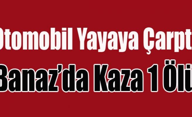 BANAZ'DA TRAFİK KAZASI 1 ÖLÜ