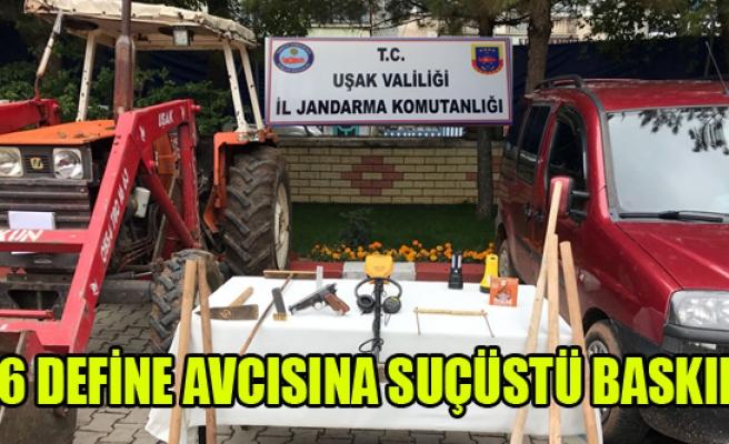 6 DEFİNE AVCISINA JANDARMADAN SUÇÜSTÜ