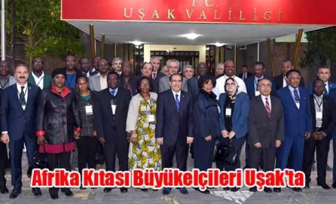 Afrika Kıtası Büyükelçileri Uşak'ta
