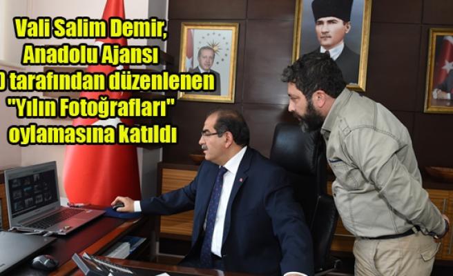 """Vali Salim Demir, (AA) tarafından düzenlenen """"Yılın Fotoğrafları"""" oylamasına katıldı"""
