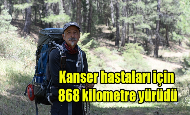 Kanser Hastaları İçin 868 Kilometre yürüdü