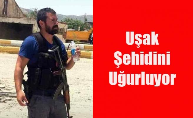 UŞAK ŞEHİT POLİS NAZIM TUNCER'İ SON YOLCULUĞUNA UĞURLUYOR