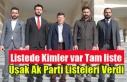 UŞAK AK PARTİ BELEDİYE VE İL GENEL MECLİSİ ÜYE...