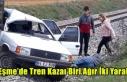 EŞME'DE TREN KAZASI BİRİ AĞIR İKİ YARALI