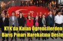 UŞAK'TA KYK'DA KALAN ÖĞRENCİLERDEN BARIŞ...