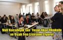 Vali Funda Kocabıyık, Yaşar Akar İlkokulunu ve...