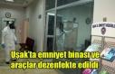 Uşak'ta emniyet binası ve araçlar dezenfekte...