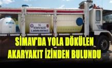 SİMAV'DA YOLA DÖKÜLEN AKARYAKIT İZİNDEN BULUNDU