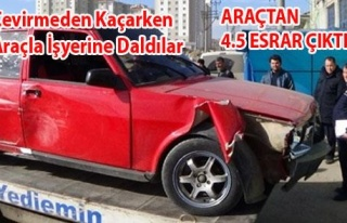 POLİSTEN KAÇAN ARAÇTAN 4.5 KG ESRAR ÇIKTI