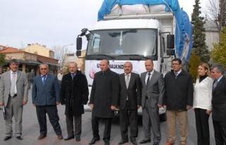 Uşak Belediyesi`nden Van`a 5 Bin Battaniye