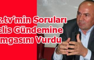 USAK.TV'NİN SORULARI MECLİS GÜNDEMİNE DAMGASINI...