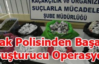 UŞAK POLİSİNDEN BAŞARILI NARKOTİK OPERASYONU