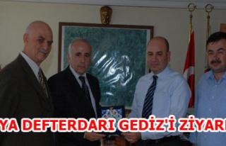 KÜTAHYA DEFTERDARI GEDİZ'İ ZİYARET ETTİ