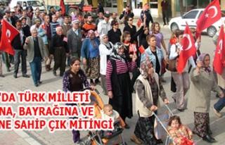 BANAZ'DA TÜRK MİLLETİ VATANINA, BAYRAĞINA VE...