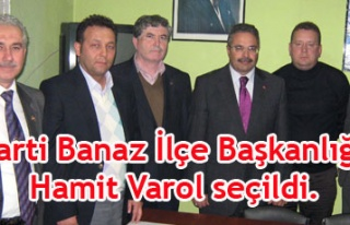 AK Parti Banaz İlçe Başkanlığı'na Hamit Varol...