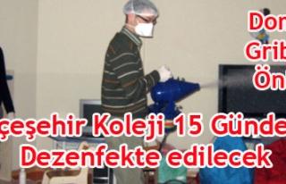 BAHÇEŞEHİR KOLEJİ DOMUZ GRİBİNE KARŞI 15 GÜNDE...