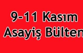 9-11 ASAYİŞ BÜLTENİ