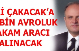 VALİ ÇAKACAK'A 110 BİN AVROLUK MAKAM ARACI ALINACAK