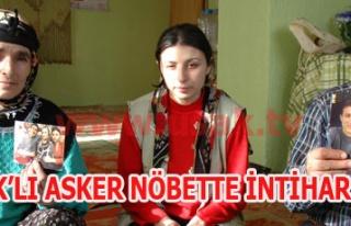 UŞAK'LI ASKER NÖBETTE İNTİHAR ETTİ