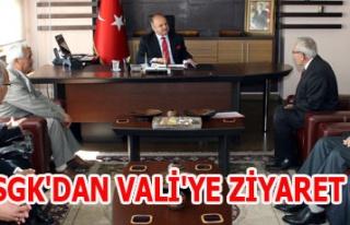 SGK'DAN VALİ'YE ZİYARET
