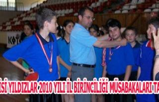 MASA TENİSİ YILDIZLAR 2010 YILI İL BİRİNCİLİĞİ...