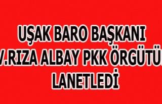 UŞAK BARO BAŞKANI AV.RIZA ALBAY PKK ÖRGÜTÜNÜ...