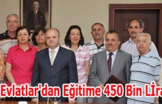 Vefalı Evlatlar'dan Eğitime 450 Bin Lİra Katkı