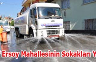 M.Akif Ersoy Mahallesinin Sokakları Yıkandı