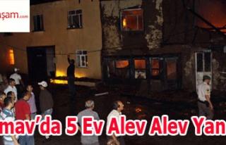 Simav'da 5 Ev Alev Alev Yandı