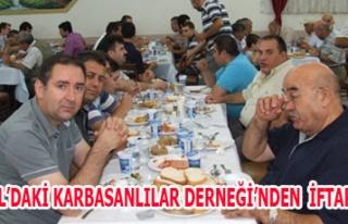 İSTANBUL'DAKİ KARBASANLILAR DERNEĞİ'NDEN İFTAR...