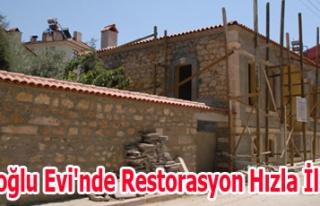İslamoğlu Evi'nde Restorasyon Hızla İlerliyor