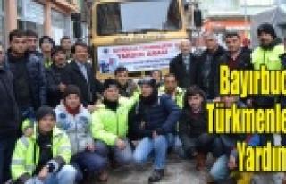 Bayırbucak Türkmenlerine Simav'dan erzak yardımı