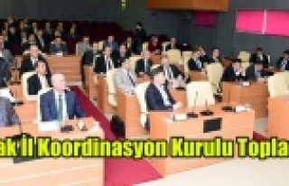 Uşak İl Koordinasyon Kurulu toplantısı