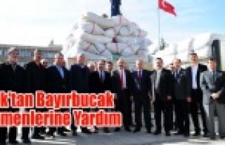 Uşak'tan Bayırbucak Türkmenlerine Yardım