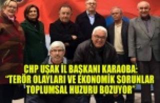 TERÖR OLAYLARI VE EKONOMİK SORUNLAR TOPLUMSAL HUZURU...