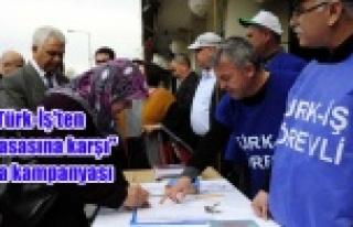 """Türk-İş'ten """"iş yasasına karşı""""..."""